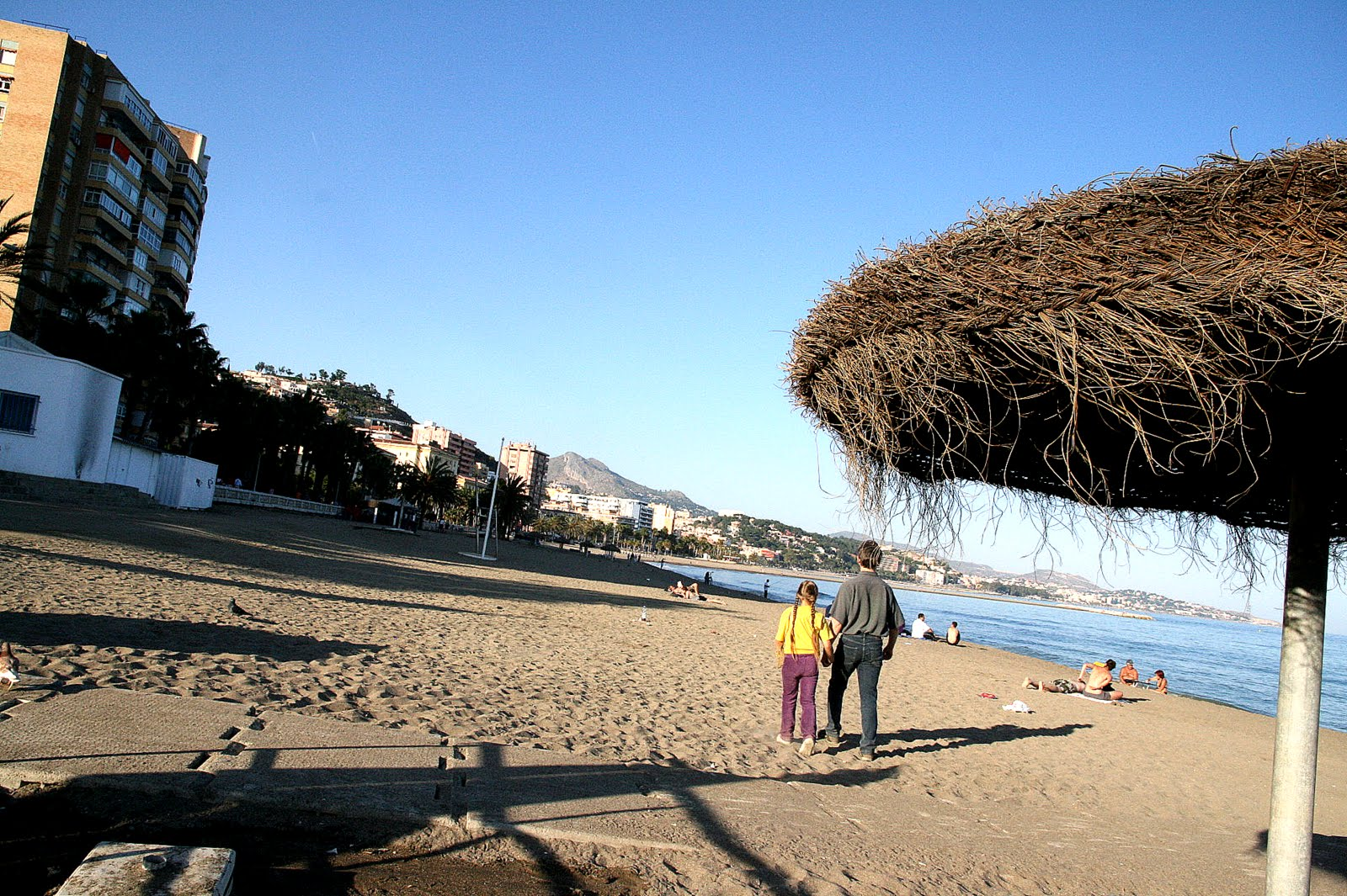 The beach in Mal&#xE1;ga, Spain.